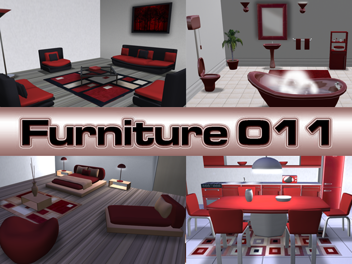 Complete furniture for the whole house Red Line