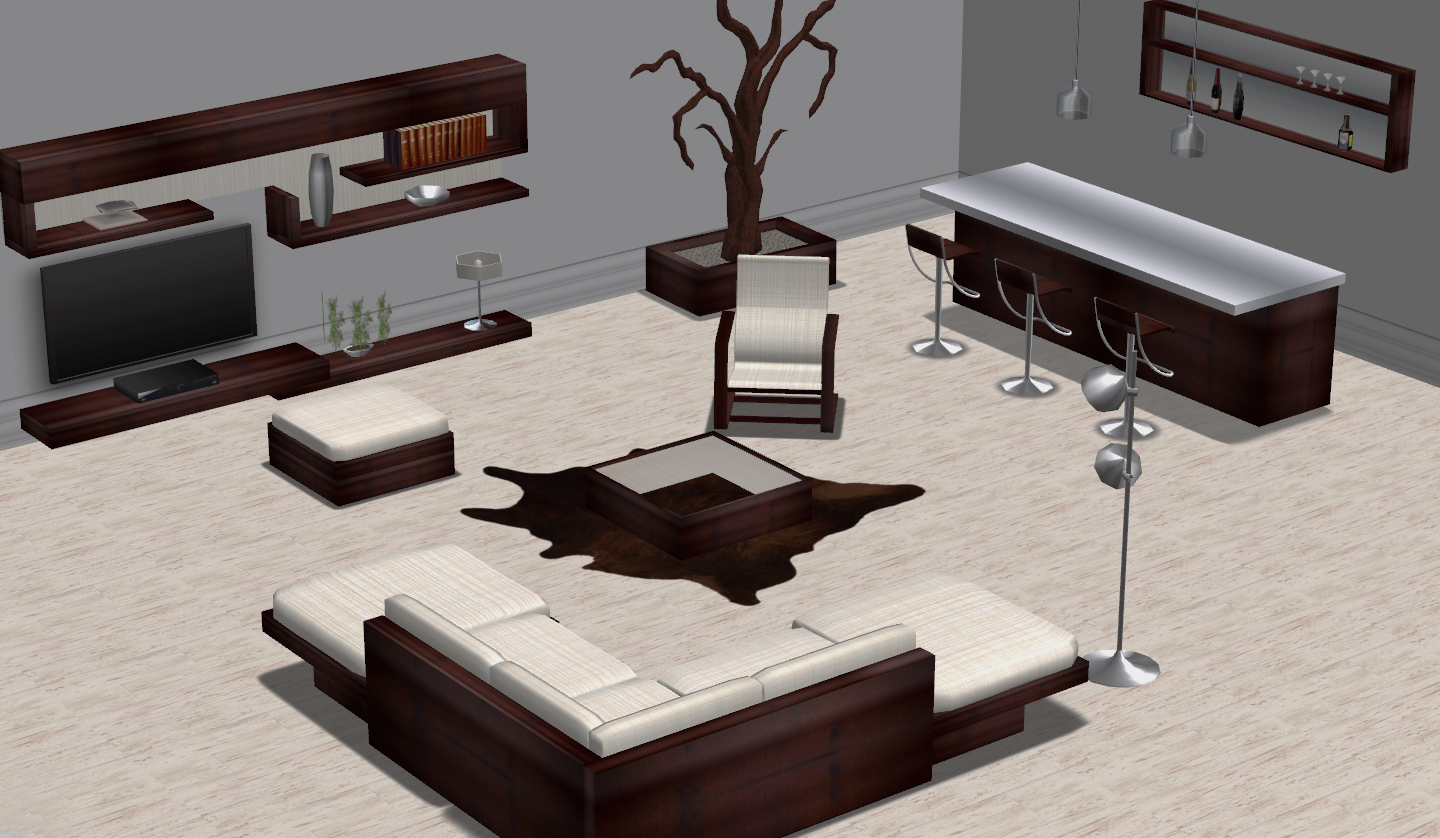 Living room with bar Solaris (adult)