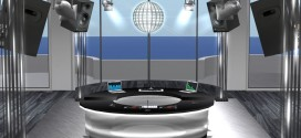 DJ Booth with dance floor and dance ball Thalia