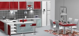 Kitchen and Dining Room Red Nirvana (310 animations)