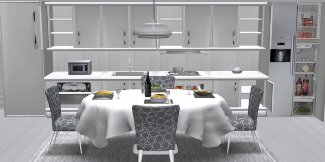 Kitchen and dining room White Nights (sex and food menus)