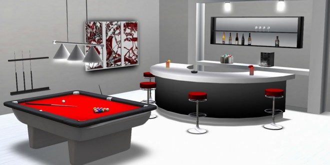 Pool Table with Bar Grand Mirage (205 animations)