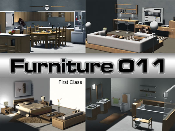 Complete Furniture For The Whole House Modern Wooden Line U2013 800 Animations