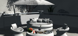 Outdoor set White Mediterranean