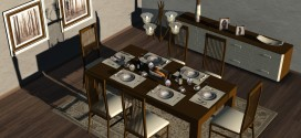 Dining Room Marlow – 140 animations [mesh]