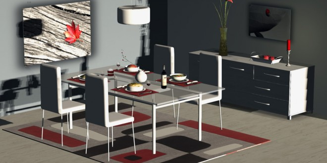 Dining room Enigma – 135 animations [mesh]