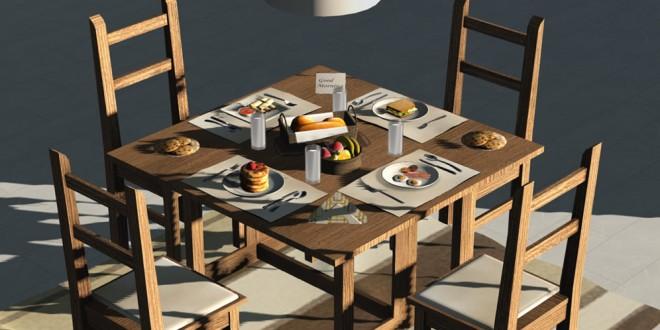 Breakfast set Maxx [mesh]