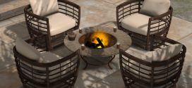 Fire pit table set Tora