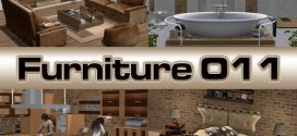 Complete furniture for the whole house Perfect Line – Living room, Bedroom, Kitchen, Bathroom – 576 animations