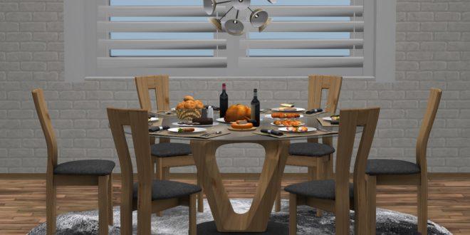 Dinner table, Dining room set Signum