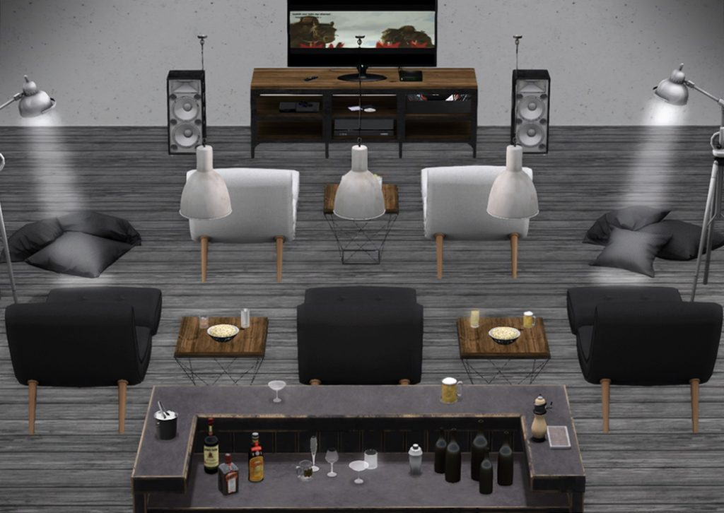Home Theater with bar Focus | furniture011.com
