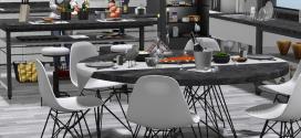 Kitchen & Dining room White Vista