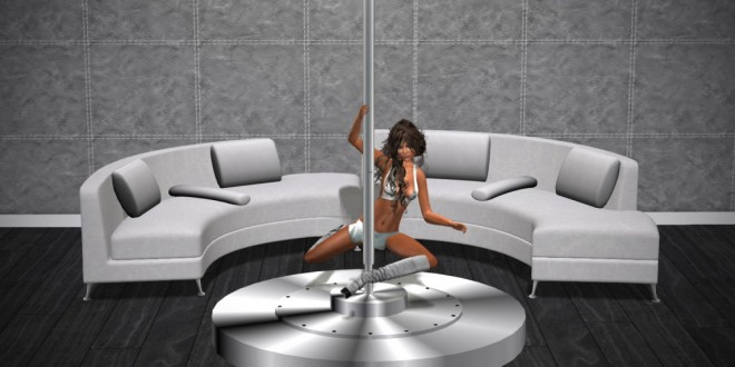 Dance pole with sex sofa Corona Extra